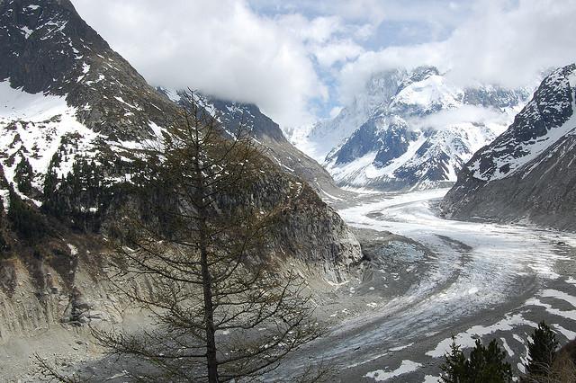 monte bianco ghiacciaio chamonix