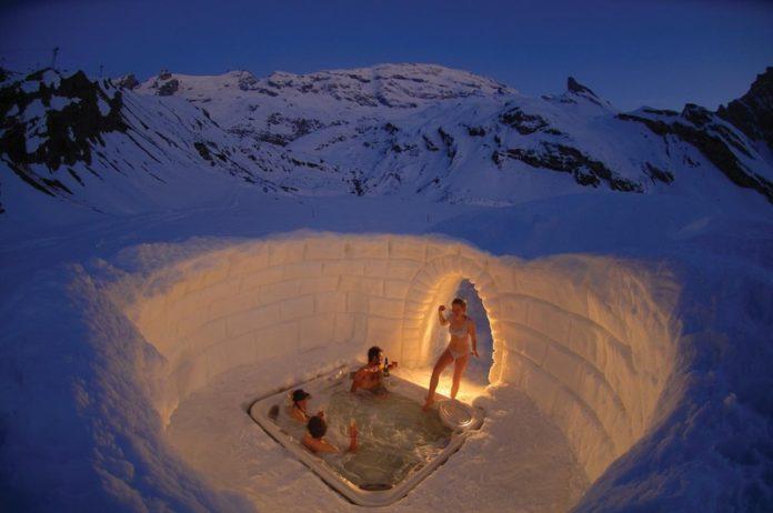 igloo neve sauna